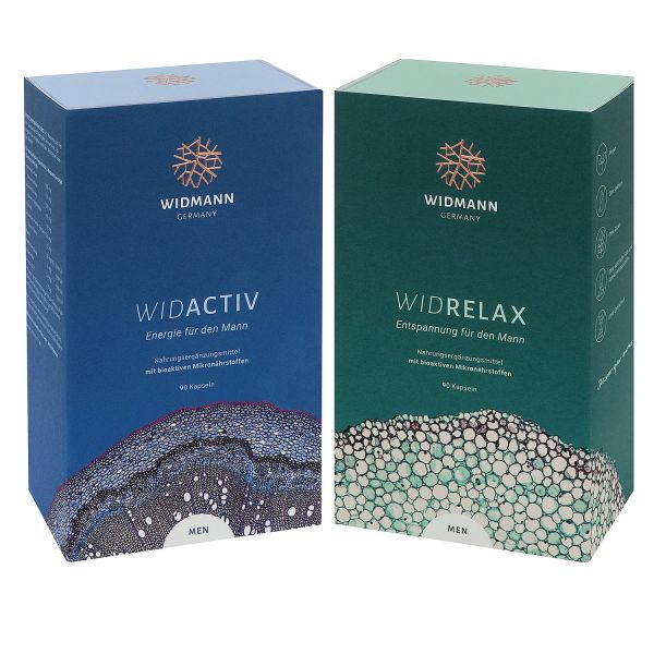 WIDACTIV Men & WIDRELAX Men Bundle – energy and relaxation for men